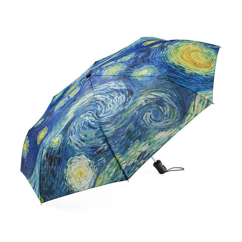 Starry Night Umbrella Collapsible