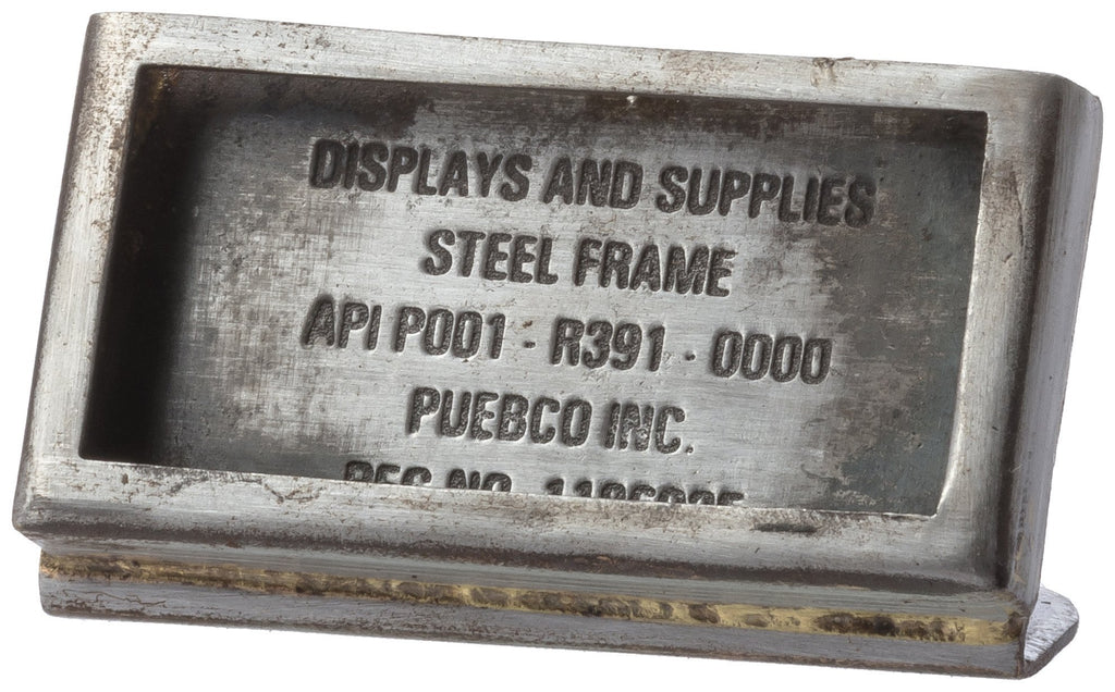 Steel Frame Rectangle W50 design by Puebco