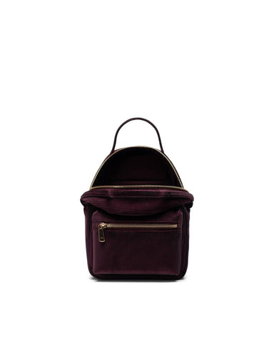 Nova Backpack Mini in Corduroy Plum