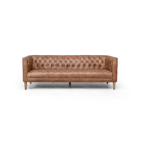 Williams Leather Sofa In New Chocolate