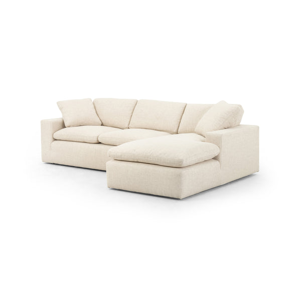 Plume Two-Piece Sectional in Thames Cream by BD Studio