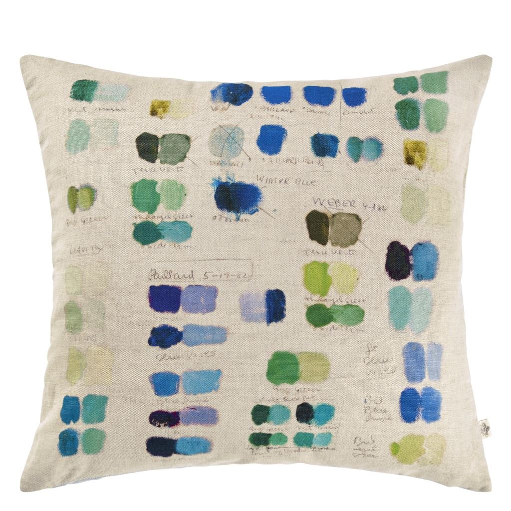 Mixed Tones Cobalt Decorative Pillow