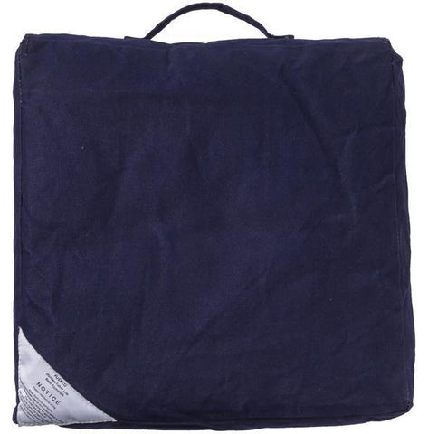Block Cushion - Navy Blue