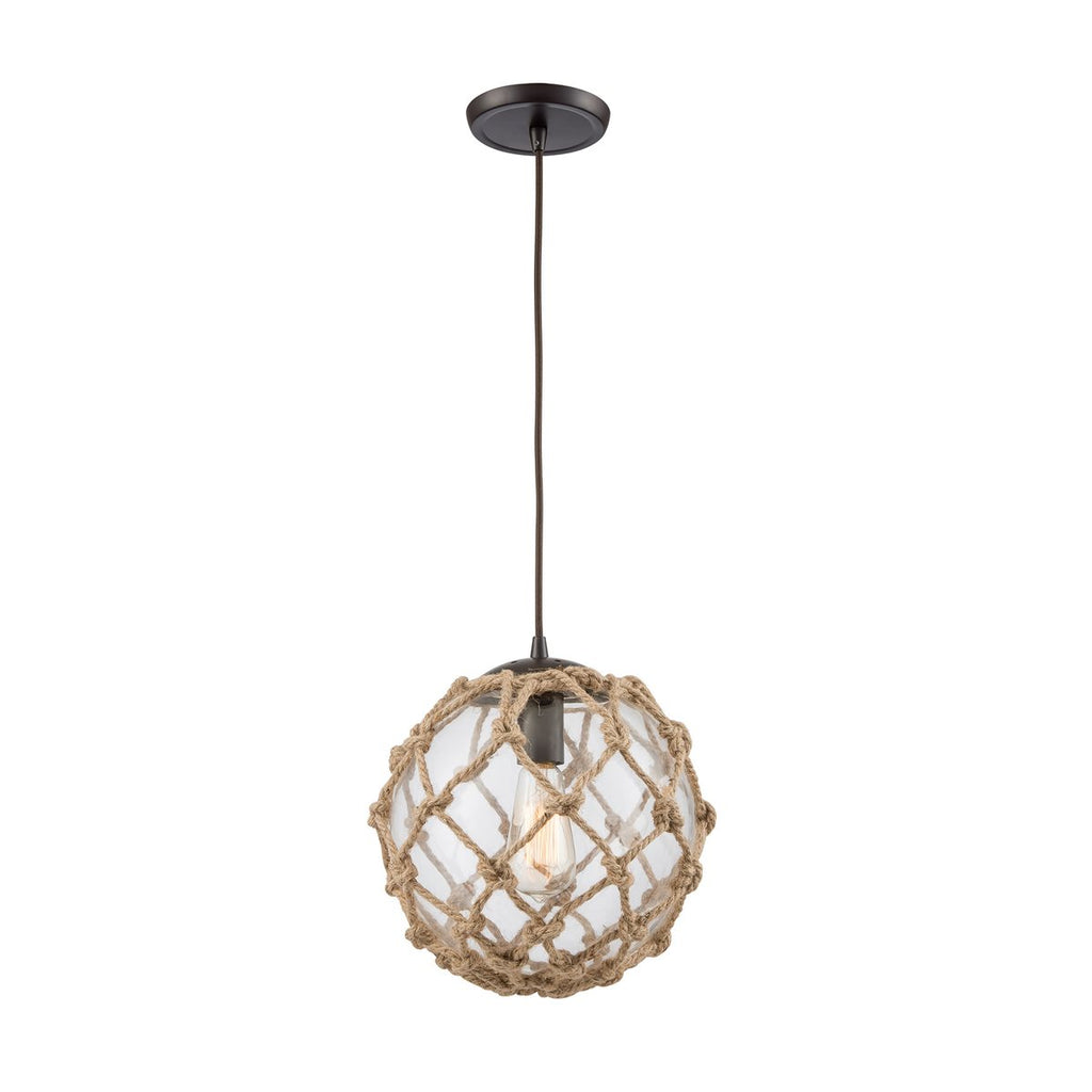 Coastal Inlet 1 Pendant in Oil Rubbed Bronze