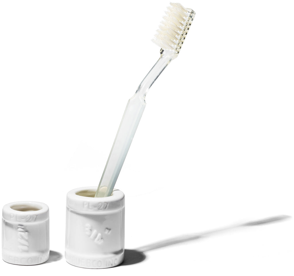 Ceramic Toothbrush Stand - Kids design by Puebco