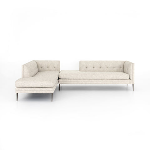 Kingsley Bumper Chaise Sectional Lyon Pewter
