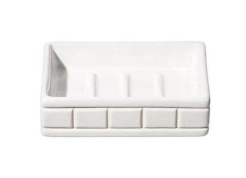 Ceramic Bath Ensemble Soap Dish design by Puebco