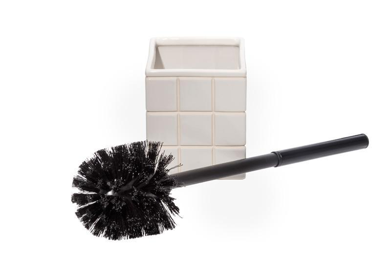 Ceramic Bath Ensemble Toilet Brush design by Puebco