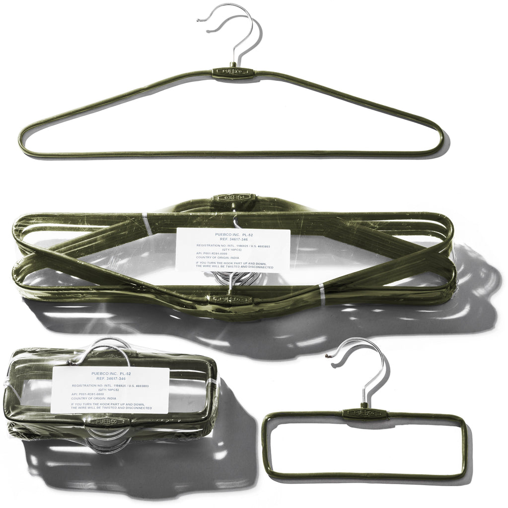Pack of Plastic Coated Wire Clothes Hanger