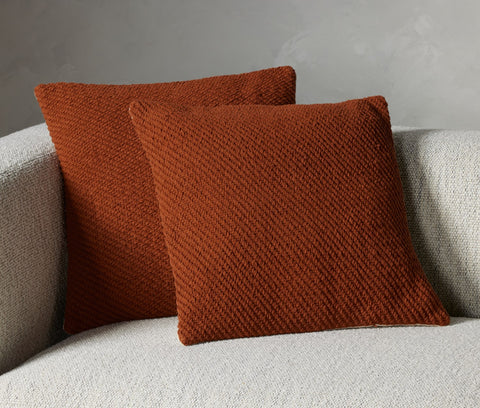 Cello Woven Rope Pillow Set in Amber by BD Studio