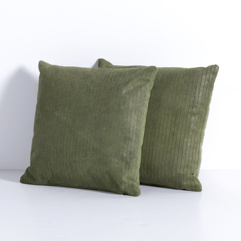 Sevanne Embossed Leather Pillow Set in Montana Peridot by BD Studio