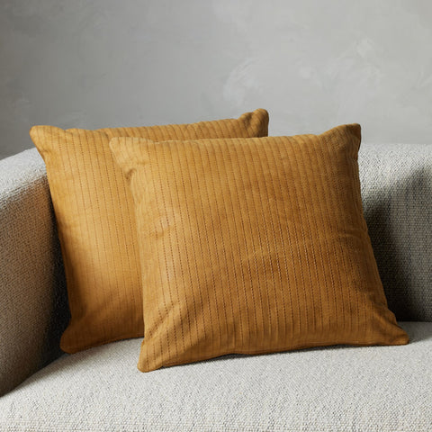 Sevanne Embossed Leather Pillow Set in Montana Harvest by BD Studio