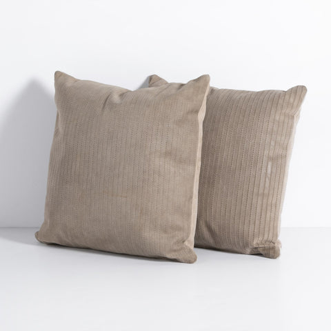 Sevanne Embossed Leather Pillow Set in Montana Sage by BD Studio
