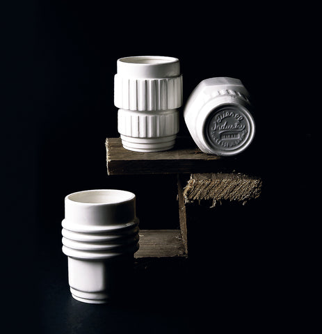 Machine Collection Porcelain Mugs design by Seletti