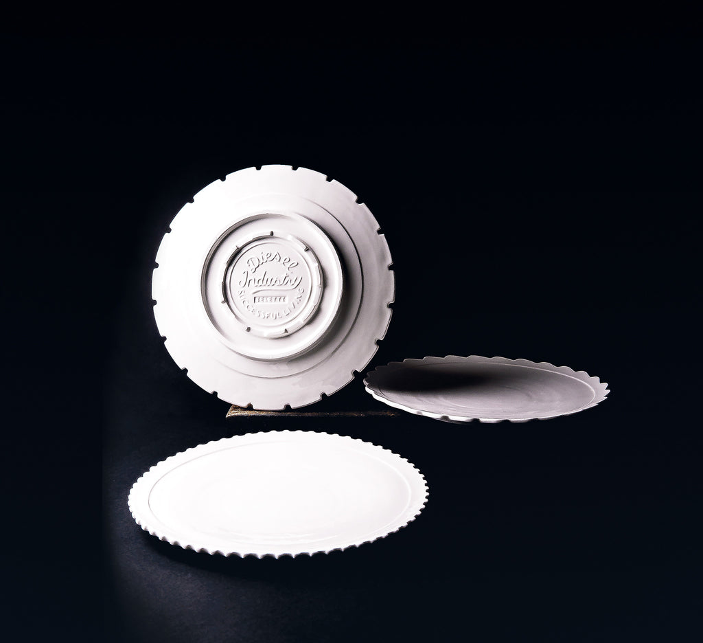 Machine Collection Porcelain Dinner Plates design by Seletti