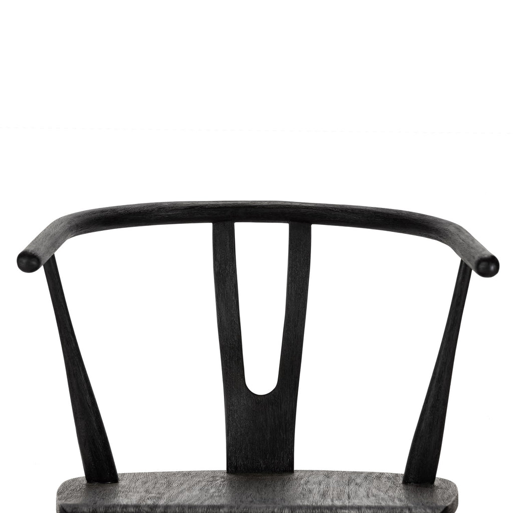 Cecelia Bar Counter Stools In Matte Black