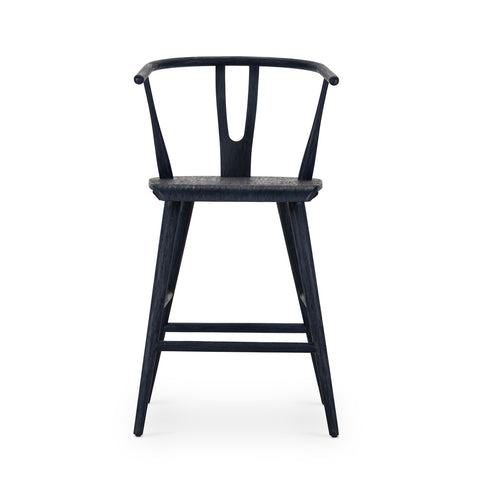 Cecelia Bar Counter Stools In Evening Blue