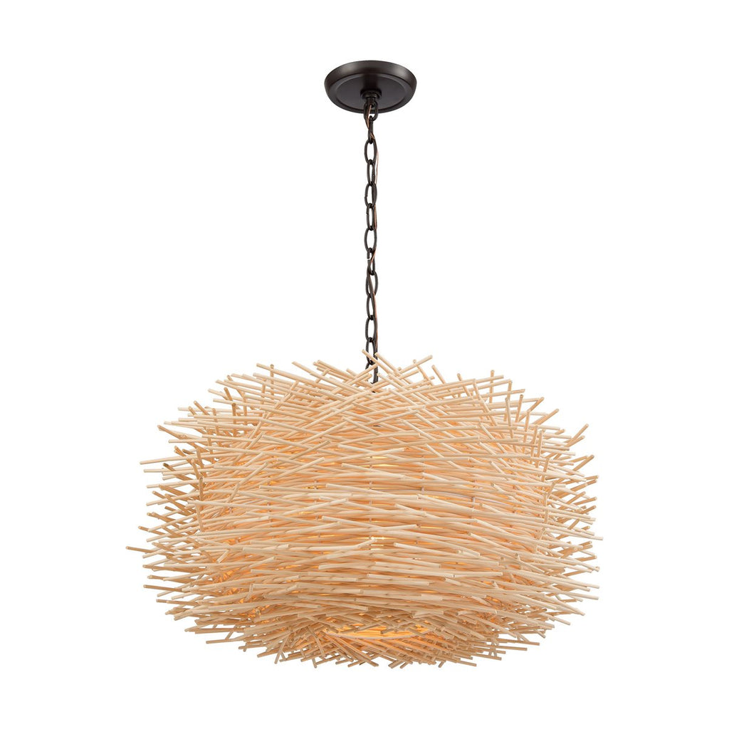 Bamboo Nest 3 Pendant in Oil Rubbed Bronze