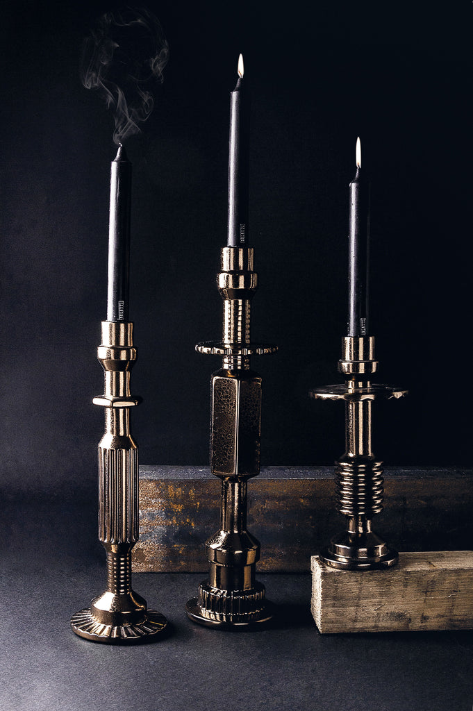 Metallic Ceramic Candlesticks