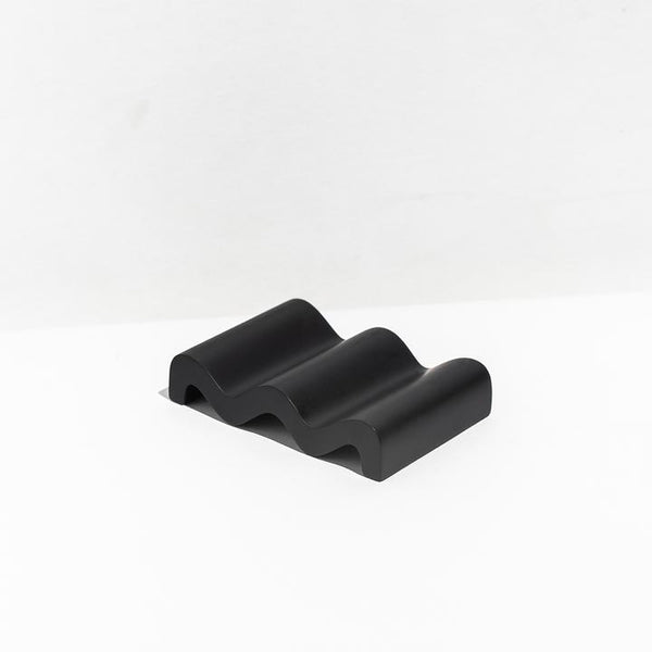 WAVE SOAP DISH - BLACK
