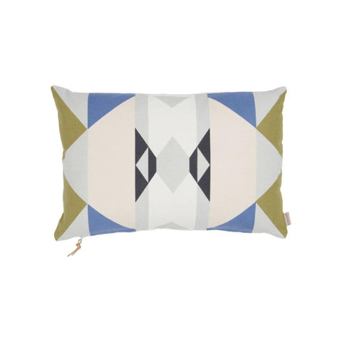Boho Cushion in Blue & Curry
