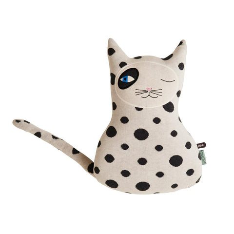 Cat Zorro Cushion - White