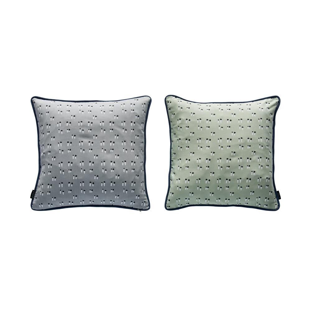 Duo Cushion - Minty / Grey