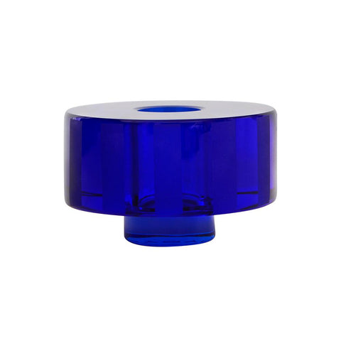 Graphic Candleholder - Blue