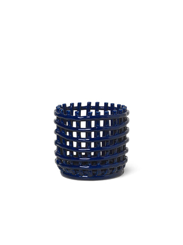 Ceramic Basket - Blue by Ferm Living