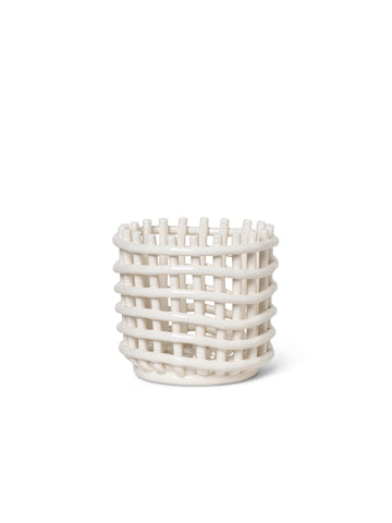 Ceramic Basket - Off-White by Ferm Living