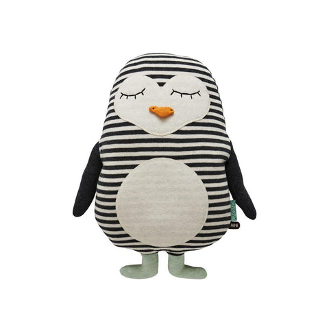 Penguin Pingo Cushion - White / Black