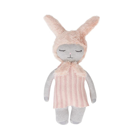 Hopsi Bunny Doll - Light Grey / Rose