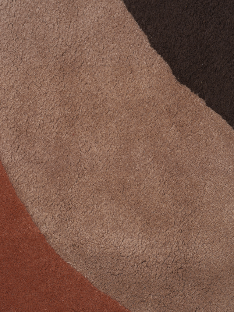 View Tufted Rug in Red Brown by Ferm Living