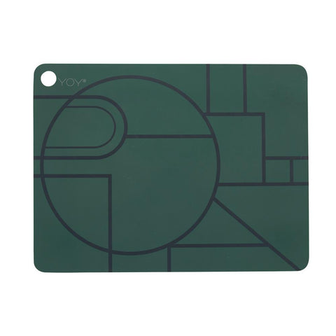 Placemat Ponyo - 2 Pcs/Pack - Dark Green