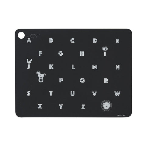 Placemat Alphabet - Anthracite