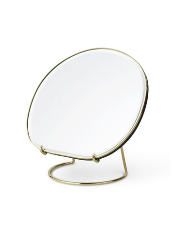 Pond Brass Table Mirror by Ferm Living