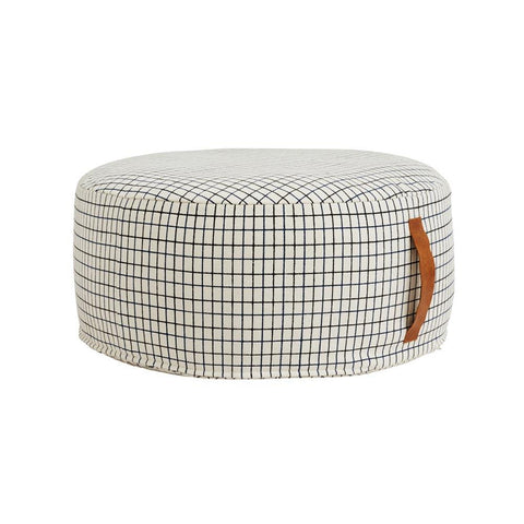 Sit On Me Pouf - Round - Offwhite