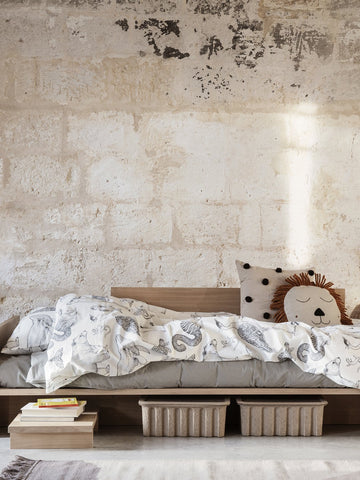 Katie Scott Animals Bedding in Off-White