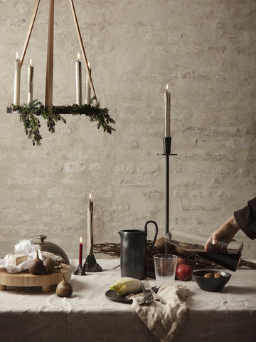 Hoy Casted Candle Holder by Ferm Living by Ferm Living