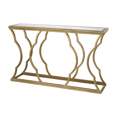 Metal Cloud Console in Gold Leaf design by Lazy Susan