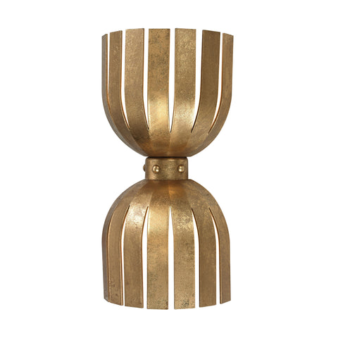 Gold Leaf Olympia 2-Light Double Wall Sconce