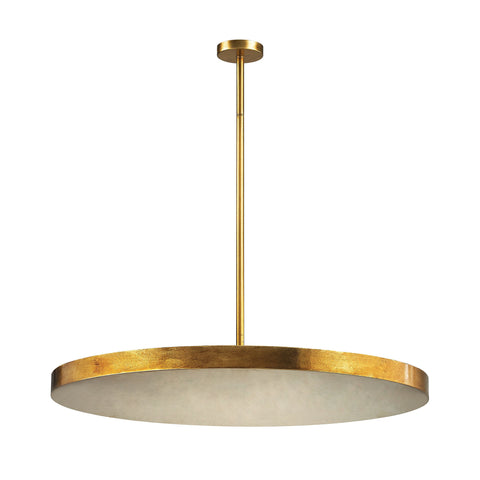 Laigne 4 Light Disc Pendant In Gold Leaf design by BD Fine