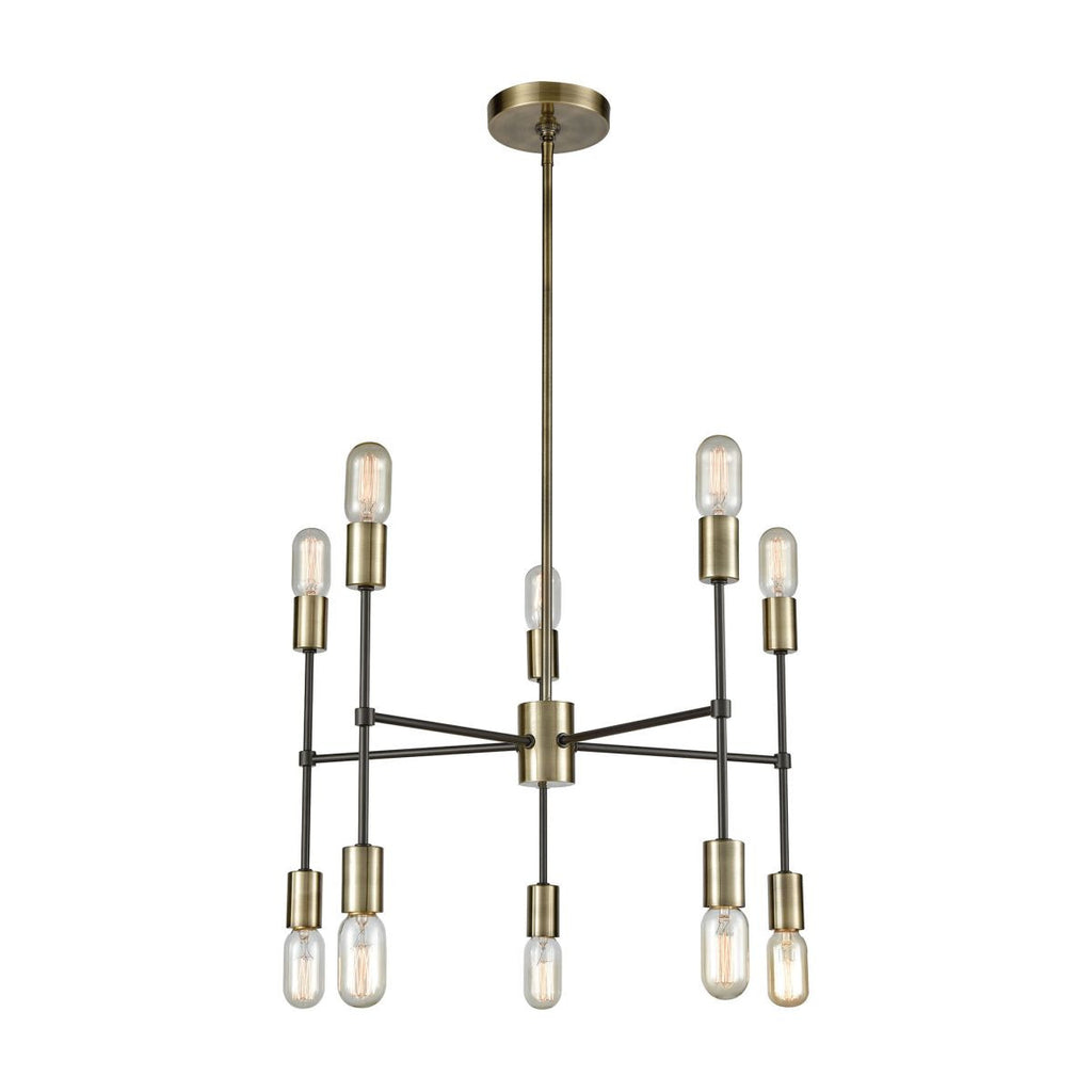 Up Down Century 10 Light Chandelier design by Lazy Susan
