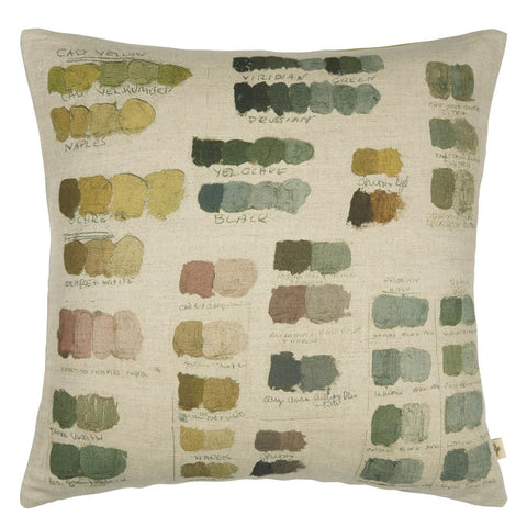 Neutral Mixed Tones Pistachio Decorative Pillow
