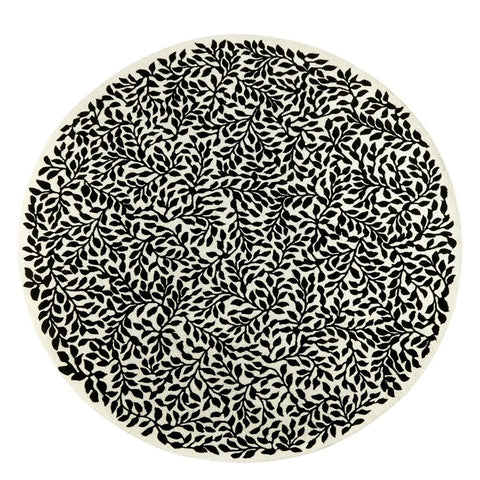 Bosquet Carbone Round Rug design by Designers Guild