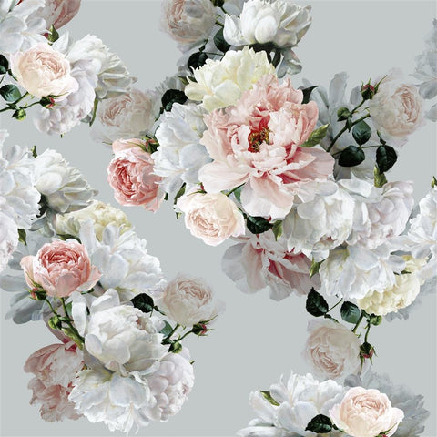Peonia Grande Zinc Shower Curtain