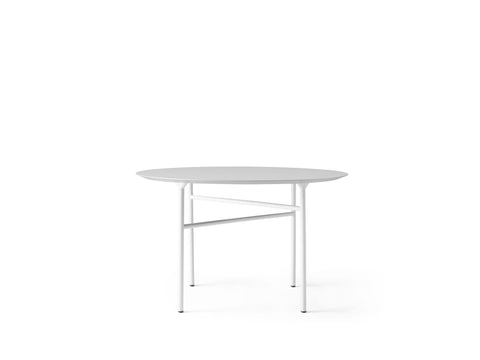 "Snaregade 47"" Round Table in Light Grey & Mushroom Linoleum by Menu"