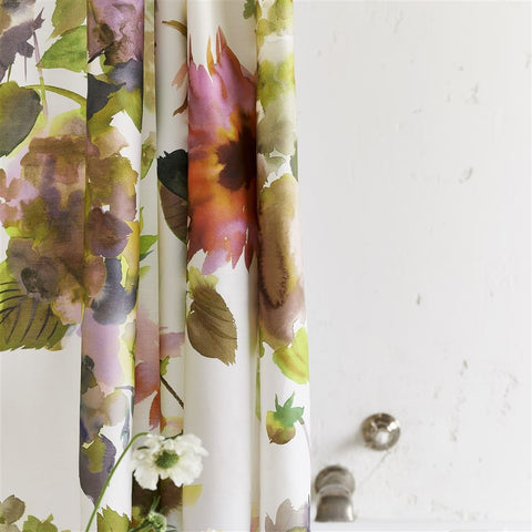 Palace Flower Birch Shower Curtain design by Designers Guild