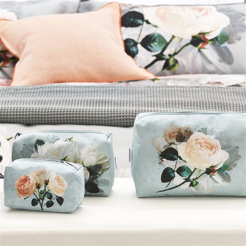 Peonia Grande Zinc Small Toiletry Bag design by Designers Guild