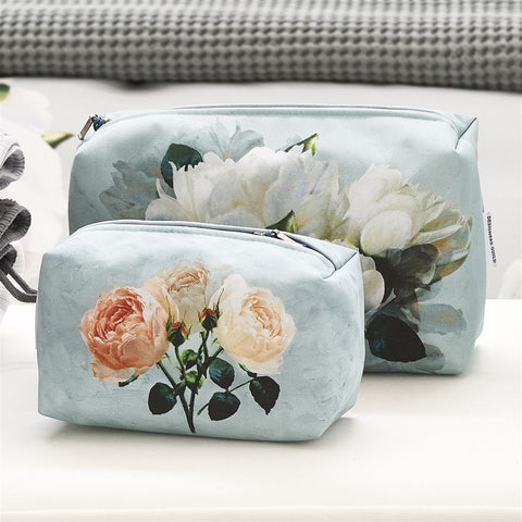 Peonia Grande Zinc Medium Toiletry Bag design by Designers Guild
